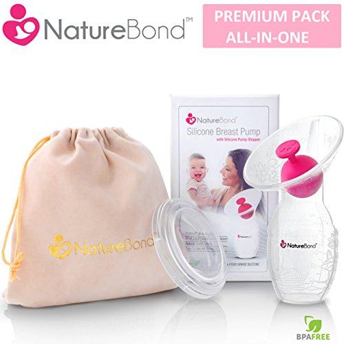 NatureBond Silikon Stillen Manuelle Brustpumpe Milch Saver ...