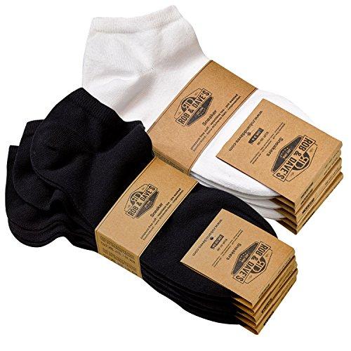 MT 6 oder 12 Paar Herren Arbeits und Freizeit Kurzschaft Sneaker Socken venenfreundlich und belastbar Work Socken