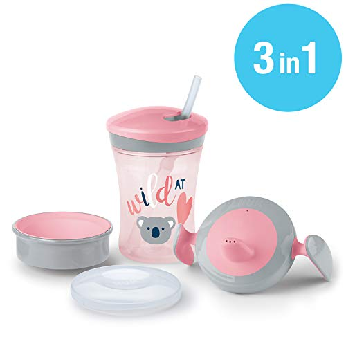 NUK 3-in-1 Trinklern-Set, mit Trainer Cup Trinkbecher Baby